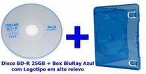 Mídia Virgem Bd-r 25gb Blu Ray Maxell Box Bluray Azul -