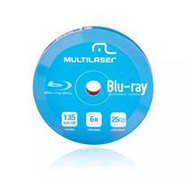 Mídia Virgem Blu-ray Shirink Multilaser 6x Imprimível com 10 Unidades DV057 -