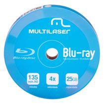 Mídia Virgem Dvd-r 4x Blu-ray Imprimível 25gb 10 Unid Dv057 Multilaser -