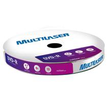 Mídia virgem DVD-R Velocidade 8X 10 unidades Shrink DV038 - - Multilaser