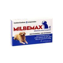 Milbemax Cães 5 a 25Kg Vermifugo 2 Comprimidos - Elanco