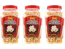 Milho de Pipoca Yoki Super Premium 650g 3 Unidades -