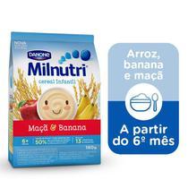 Milnutri Cereal Infantil Mingau de Banana e Maçã 180g -