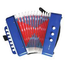 Mini Acordeon Sanfona Infantil Brinquedo Musical 3 Baixos - Dm Toys