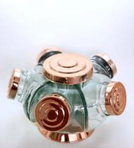 Mini Baleiro de vidro giratório - Boêmia