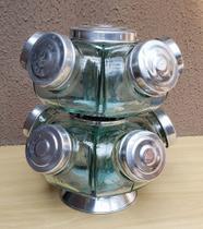Mini baleiro duplo giratório na cor prata - Raiar da Aurora