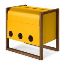 Mini Bar Canyon Cor Cacau Com Amarelo - 29464 - Sun House