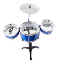 Mini Bateria Musical Infantil - 99 Toys Azul - 99 EXPRESS