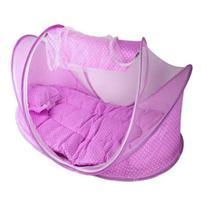 Mini Berço Portatil De Bebe Com Mosquiteiro Azul / Rosa - Mar Azul Decorações