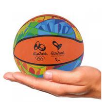 Mini Bola Basquete Rio 2016 Laranja Colorida - Dtc