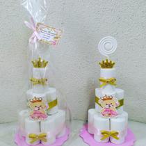 Mini bolo de eva  lembrancinha Ursinha Princesa - Mimos