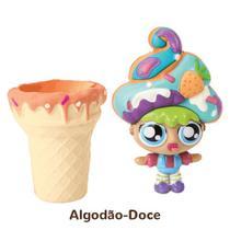 Mini Boneca 13 Cm Gelateenz com Cheirinho Sorvete Torta de Algodão Doce 5106 - DTC -