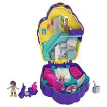 Mini Boneca com Acessórios - Mini Polly Pocket - Mini Mundo de Aventura - Cafeteria - Mattel -