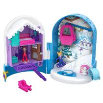 Mini Boneca com Acessórios - Mini Polly Pocket - Mini Mundo de Aventura - Estação de Esqui - Mattel -