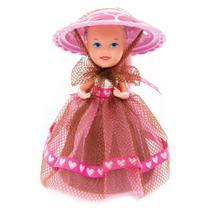 Mini Boneca - Cupcake Surpresa do Coração - Trufado - Estrela -