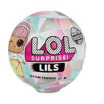 Mini Boneca LOL Surprise - LIL Sisters e LIL Pets - Winter Disco Series - 5 Surpresas - Candide -