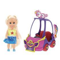 Mini Boneca - Sparkle Girlz - Mini Carro Sparkles Music - DTC -