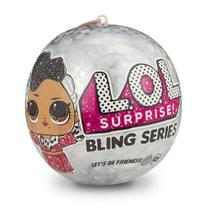 Mini Boneca Surpresa - LOL Lil Outrageous Littles - Bling Series - 7 Surpresas - Candide 8919 -