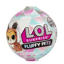 Mini Boneca Surpresa - LOL Surprise - Fluffy Pets - Winter Disco Series - 7 Surpresas - Candide -