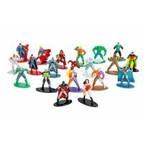 Mini Bonecos Nano Metalfigs com 20 Peças - Dc Comics - Liga da justiça