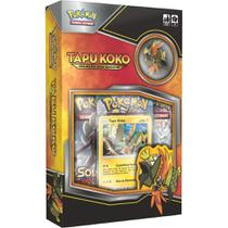 Mini Box Pokémon Tapu Koko Com Broche - Copag