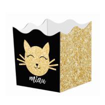 Mini Cachepot Decorado Festa Miau 10 unidades Duster - Festabox