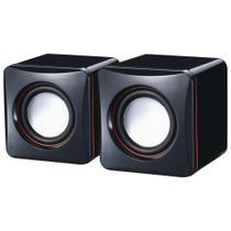 Mini Caixa De Som 2.0 Usb BPC-D02L Brazil PC 3w Rms -