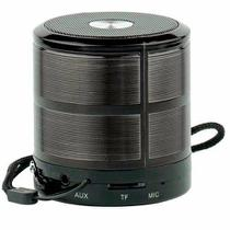 Mini Caixa de Som Bluetooth Portatil Lines Preta - Grasep
