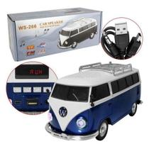 Mini Caixa de Som Kombi Mp3 Rádio Digital Stereo Fm Usb Bluetooth - Master