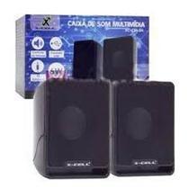 Mini Caixa de Som Multimídia 2.0 6W Computador Notebook P2 - X-Cell