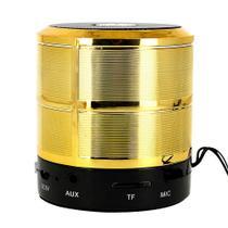 Mini Caixa De Som Portátil Dourada Bluetooth RAD-377Z - Inova -
