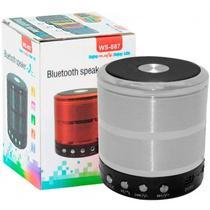 Mini Caixa De Som Portátil Speaker Ws 887- Prata - Morgadosp