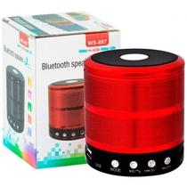 Mini Caixa De Som Portátil Speaker Ws 887- Vermelho - Morgadosp