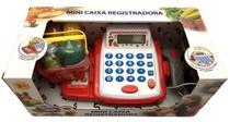 Mini Caixa Registradora Infantil Acessórios Vermelho Branco - Crx