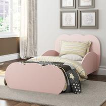 Mini Cama Algodão Doce com colchão 150cmx70cm 100% MDF Multimóveis Rosa -