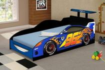 Mini Cama Carro Speed Azul - Divaloto