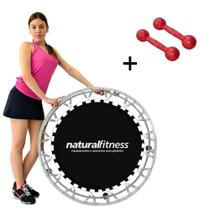 Mini Cama Elástica Jump Profissional Par Halter 2kg - Natural fitness