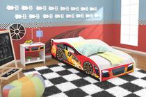 mini cama infantil adesivada drift vermelho com colchão RPM - Rpm  móveis