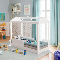 Mini Cama Infantil Casinha Montessoriana com Grades de Proteção Pura Magia -
