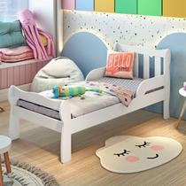 Mini Cama Infantil com Proteção Lateral Bella Carolina Baby Branco Brilho -