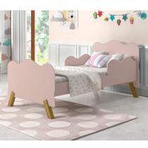 Mini Cama Infantil com Proteção Lateral Cambel Móveis Rosa -