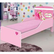 Mini Cama Infantil com Proteção Lateral Nicole J&A Móveis Moranguinho -