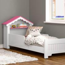 Mini Cama Infantil Magia Casinha Branco Rosa Ofertamo Quarto -