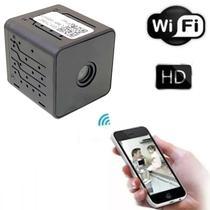 Mini Câmera Wifi HD Filma no Escuro com Infra Espiã Portátil Acesso Via Aplicativo Celular - Lx