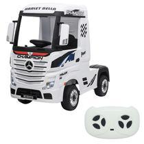 Mini Caminhão Elétrico Importway Mercedes Benz Actros Branco 12V -