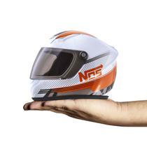 Mini Capacete Decorativo Pro Tork Nos Speed Line Laranja -
