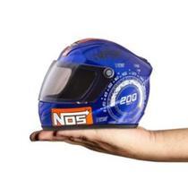 Mini Capacete Decorativo Pro Tork Nos Top Speed Azul - Azul - Protork