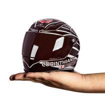 Mini capacete pro tork decorativo corinthians oficial -