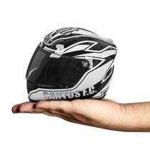 Mini capacete pro tork decorativo santos oficial -