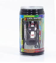 Mini carro de controle remoto lata racing preto dtc -